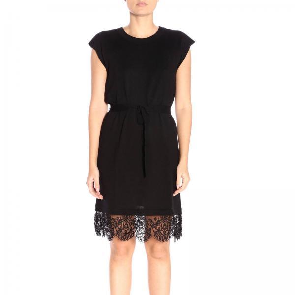 Moschino Boutique Negro Vestido Primavera Mujer 2019 1100giglio verano 5482 7WpOvxO