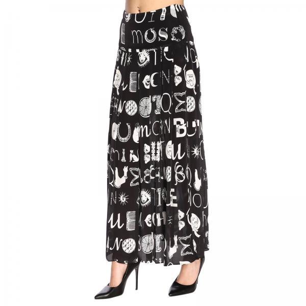 Moschino Boutique 0119 2019 Falda Negro Primavera verano 1153giglio Mujer OxS6Sf5Eqw