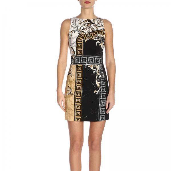 verano Mujer Collection G604561giglio Primavera 2019 Vestido Versace G35898c Negro gwdpE0q
