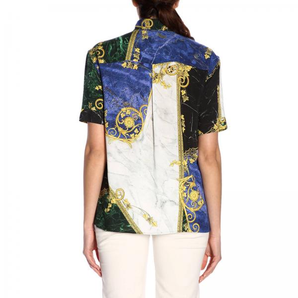 Primavera G604537giglio Mujer 2019 Versace verano Blue G35869a Collection Camisa 7dXY1qwY