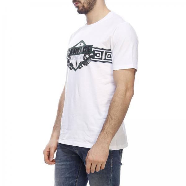 In Corte shirt T Rilievo Con Collection A Versace Maniche Stampa Maxi ulFK31cTJ