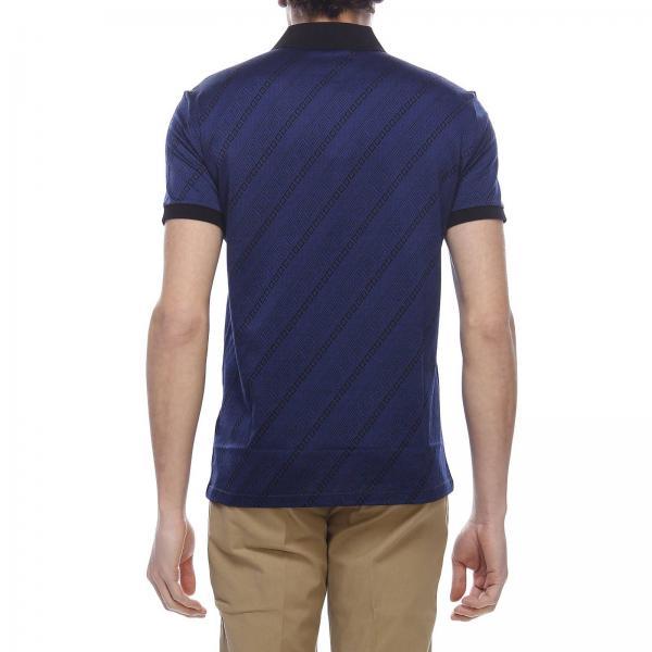 Maniche Corte Collection V800543a Versace Uomo Over T Con Fantasia A shirt Greca Vj00590 Cotone BluePolo In Piqué All hxodtsQrCB