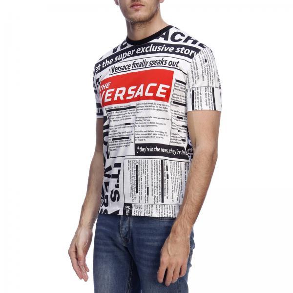 A229317giglio Hombre Camiseta A79334 2019 Primavera Blanco Versace verano I4xwq1xC