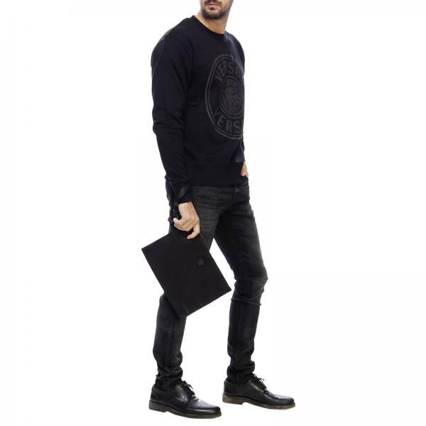 Dnylvgiglio verano Primavera Dp85102 2019 Maletín Versace Negro Hombre w1TPqT