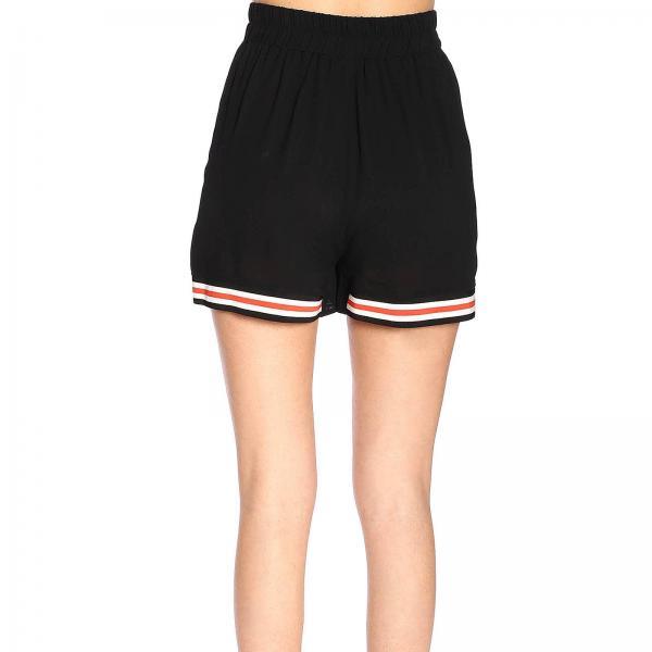 Pantalone Con Cintura Bordi Pinko Donna Abile A y59f NeroShorts Righe E 1g13sf c4A35qRjL