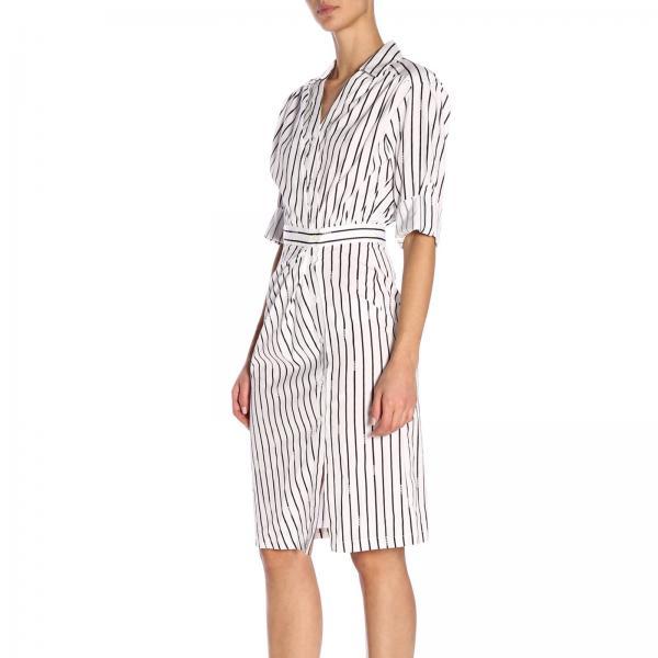 Mujer Vestido 1g13tk 7350 Pinko Primavera Sfrontatogiglio Blanco verano 2019 pf11qwH