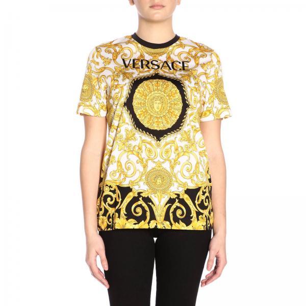 Primavera A229176giglio verano Mujer 2019 Camiseta A82255 Fantasía Versace R4ZvwqAH