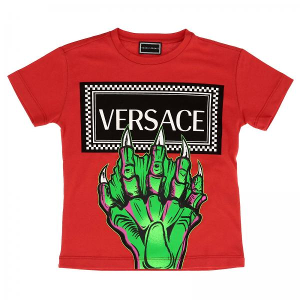 b3de322dcba4 T-shirt little boy Versace Young Red