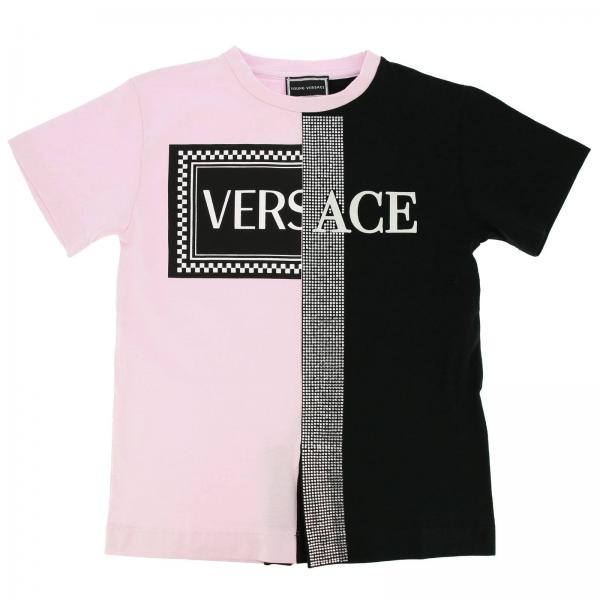 12516182f T-shirt little girl Versace Young Pink | T-shirt Kids Versace Young ...