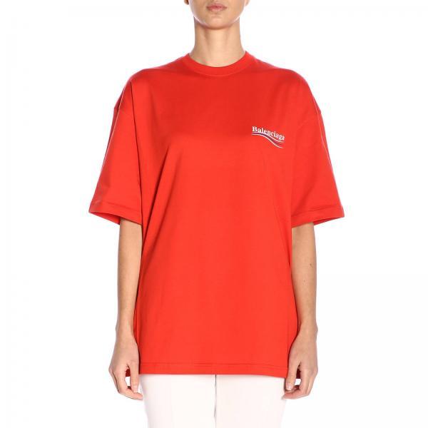 3a64c5f6 Balenciaga Women's T-shirt | T-shirt Women Balenciaga | Balenciaga T-shirt  556102 Tav44 - Giglio EN