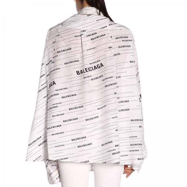 BalenciagaIn E Seta Logo Maniche Over Camicia 556245 Con Donna Tdl55 All 8wXPOn0ZNk