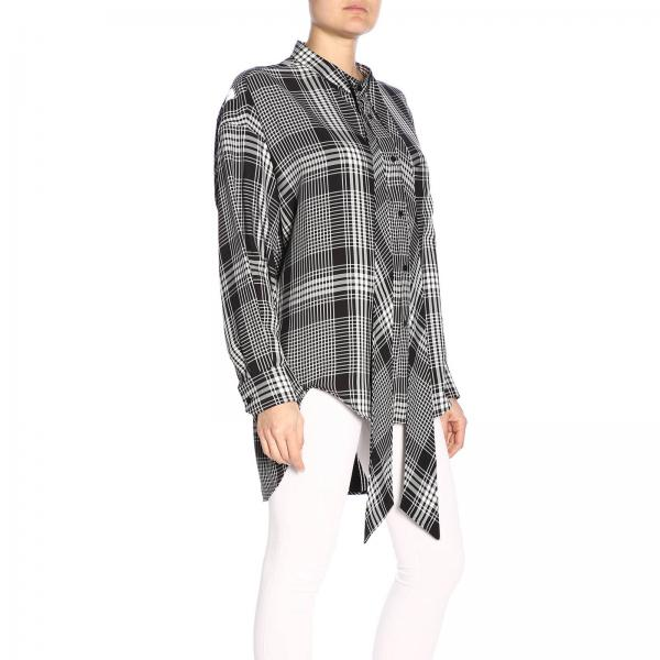 Primavera Negro verano 2019 Mujer Tcn01giglio Balenciaga 520497 Camisa pEX8Sqx