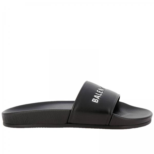 29885f1ce51e Balenciaga Women s Black Flat Sandals