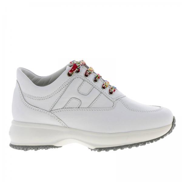 pretty nice 419da d2c2b Sneakers interactive baby in pelle con h fustellata e zip