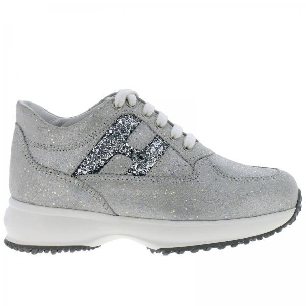 sports shoes 2c5f9 55622 Sneakers interactive hogan in tessuto lurex e glitter con big h
