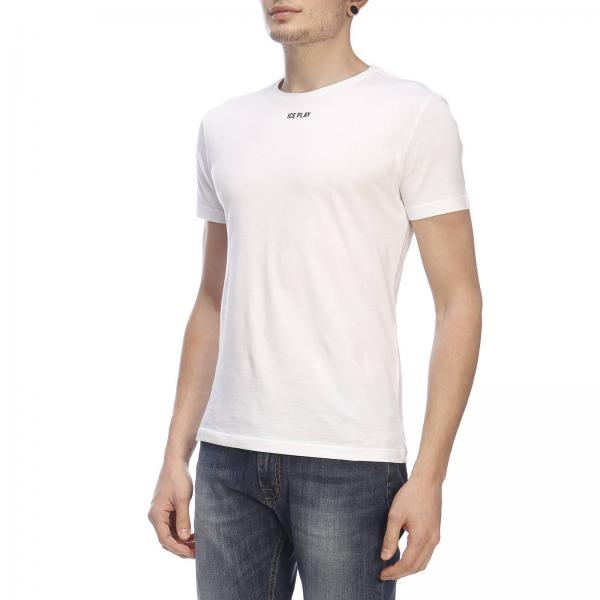 Con shirt T Basic Stretch A Corte Ice Play Maniche Stampa WD2EIeYH9