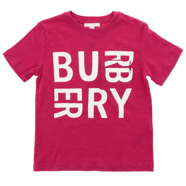 70b89004f12 Burberry Little Girl s Fuchsia T-shirt
