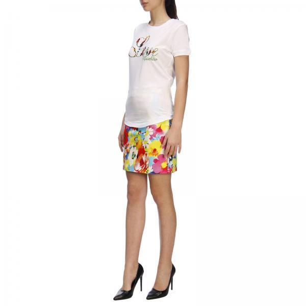 Moschino A Maxi Logo By Corte shirt Maniche Love T Con gY76vbfy