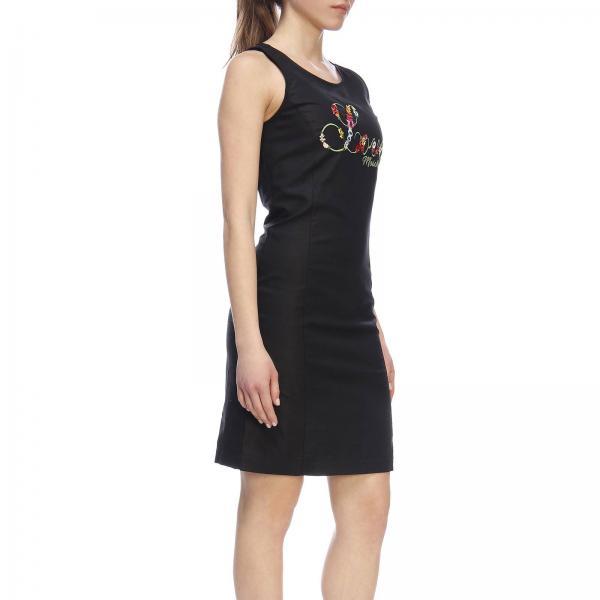 Vestido 2019 Negro Moschino Wvh4101 verano Primavera S3259giglio Love Mujer rwvZqpr