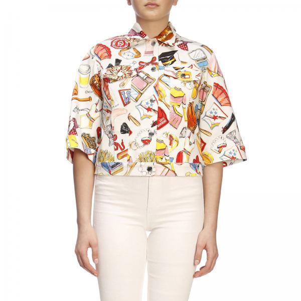 neueste Kollektion verschiedene Arten von offizieller Shop Jacke für Damen Love Moschino