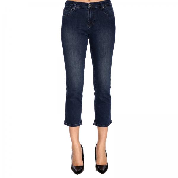 Jeans Slim Love Trombetta Denim Used A Stretch In Vita Moschino Regolare vNm08nw