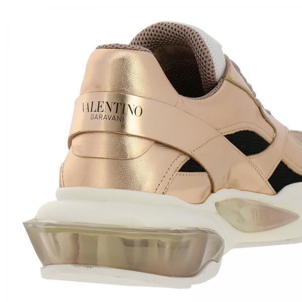 Pelle Rete Gomma Zgm Con Suola E Valentino Donna Rw2s0i55 Garavani Laminata RameBounce Sneakers Maxi In Micro DEIeW2H9Yb