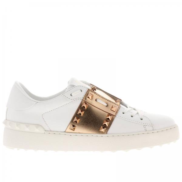 snickers donna  Sneakers Donna Valentino Garavani Oro | Sneakers Untitled Rockstud ...