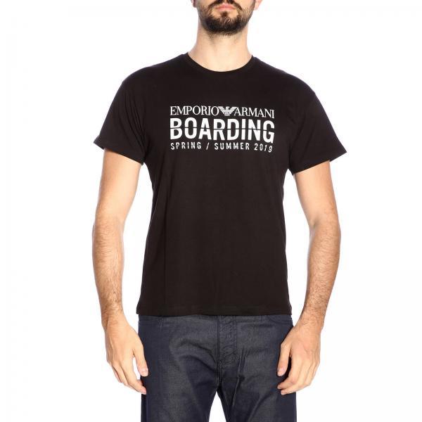 T Armani shirt Maniche By Stretch Logo A Corte Con Emporio srQdCxBtoh