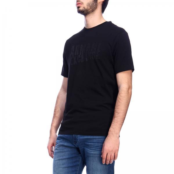 Logo Exchange Maxi shirt Stampa A Maniche Armani Corte Con T strdChQ