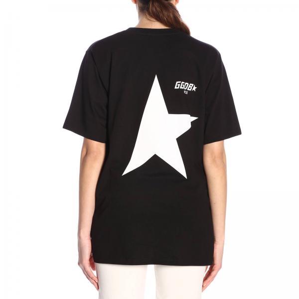 Con Contrasto T A Logo Maniche Maxi shirt Corte Stampa L35R4Ajq
