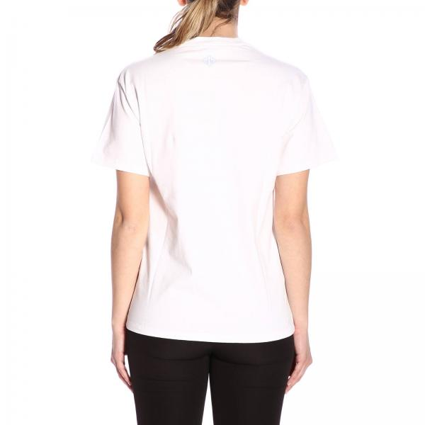 shirt Maniche Logo Stampa T Maxi Corte Con A Contrasto NkP80nwOX