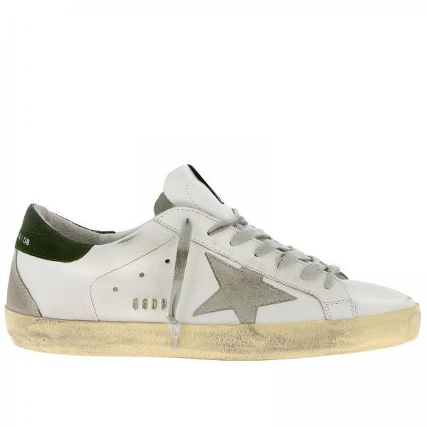 rivenditore di vendita c315d 4e3a4 Sneakers superstar in pelle effetto used con stella in camoscio