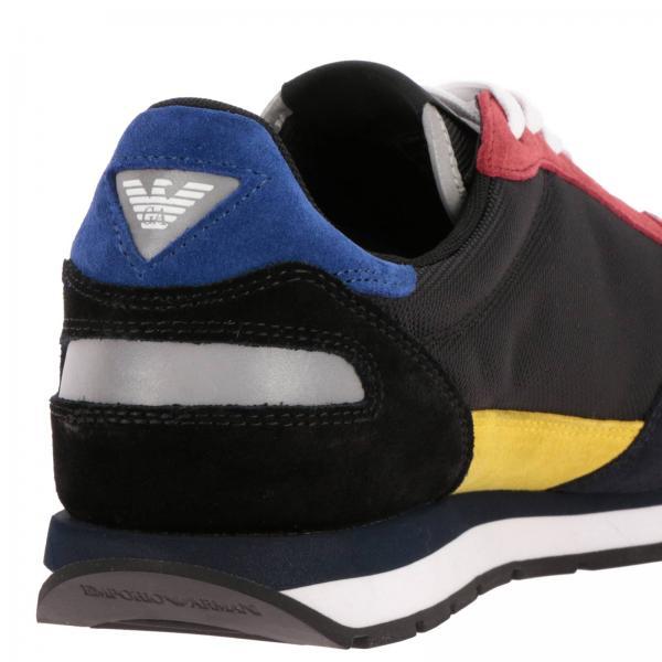 Sneakers Running Rete Micro Camoscio In Emporio Armani E ikZPXOu