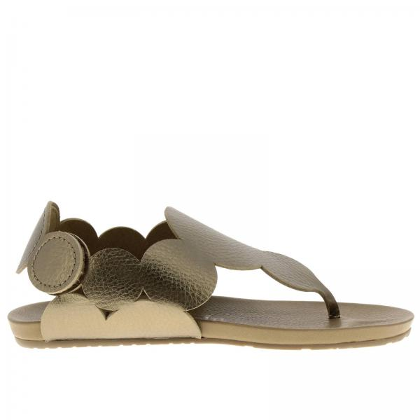 Flat sandals Pedro Garcia JAMEE BARK CERVO LAME