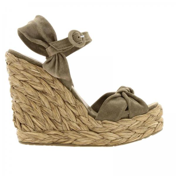 Wedge shoes Pedro Garcia TALISE BARK VELOUR