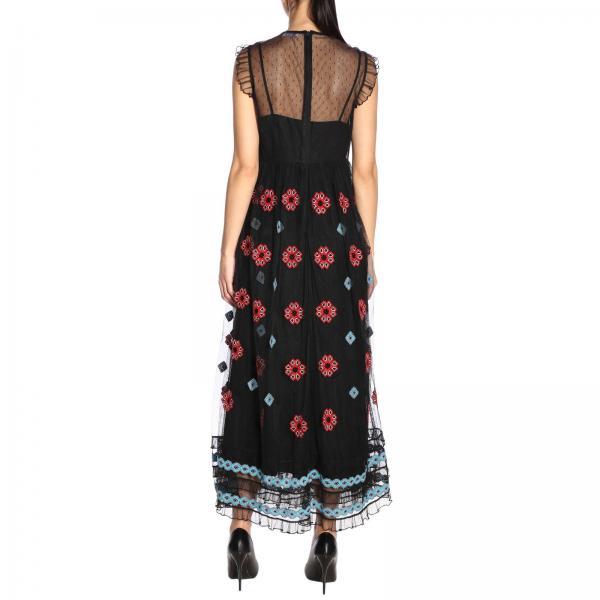 verano Rr0va01m Mujer Vestido 2019 Nujgiglio Valentino Negro Red Primavera IqUFw0x6F
