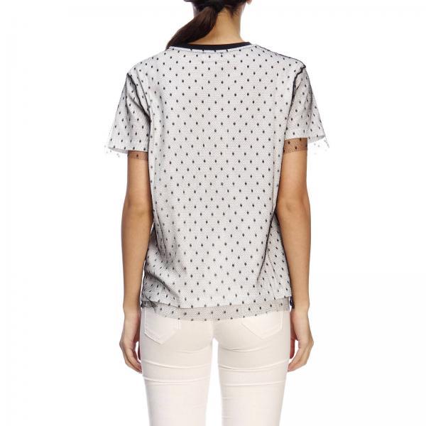 Mujer Red Camiseta Tkpgiglio Primavera Valentino verano 2019 Blanco Rr0mg01l 7qfH5df