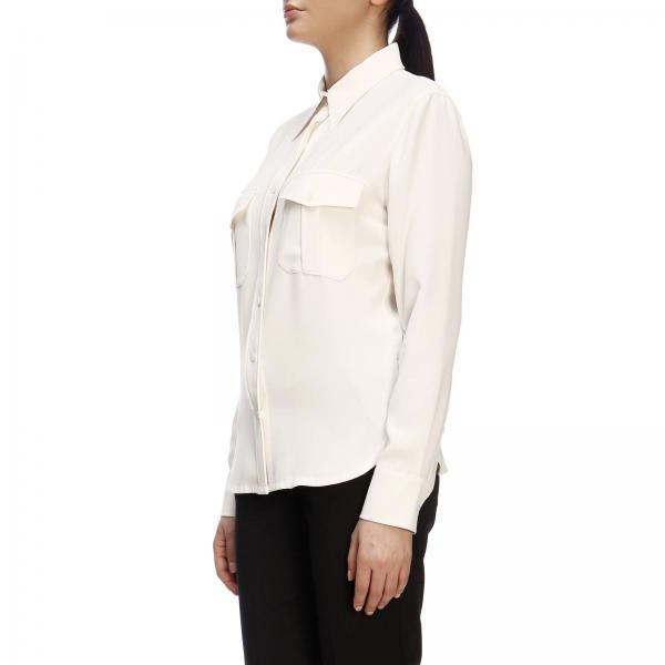 Maniche Donna A Calvin Klein Camicia BiancoBasic Lunghe K20k200527 KuT1FlJc3