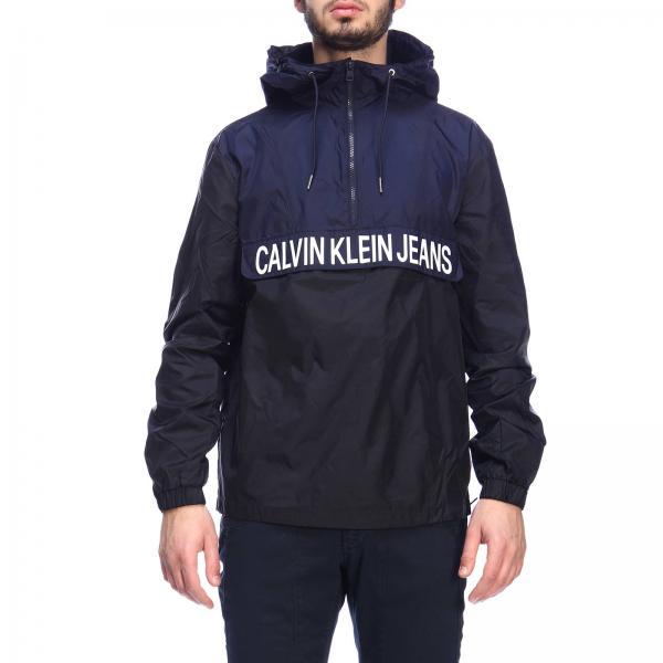 5c8d6eeb4e Calvin Klein Jeans Men's Blue Jacket | Jacket Men Calvin Klein Jeans ...