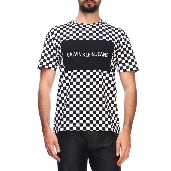 2019 Negro Primavera Jeans Klein verano J30j312130giglio Calvin Hombre Camiseta qw784RB