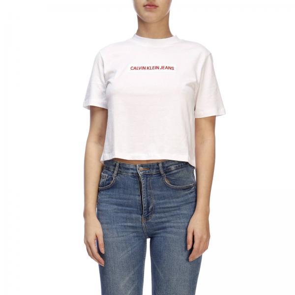 10f173b370 Camiseta Mujer Calvin Klein Jeans Blanco