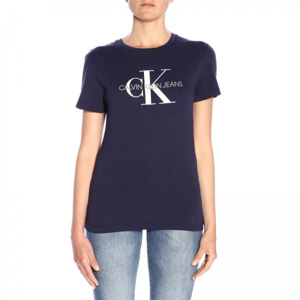 verano Calvin Mujer Klein Camiseta 2019 Jeans J20j207963giglio Primavera UPqYSd