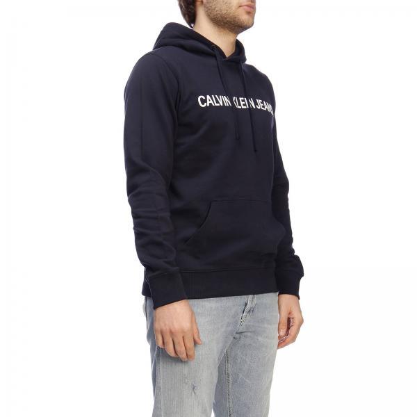 Felpa Klein Con E Logo Jeans Cappuccio Calvin y8n0mwONv