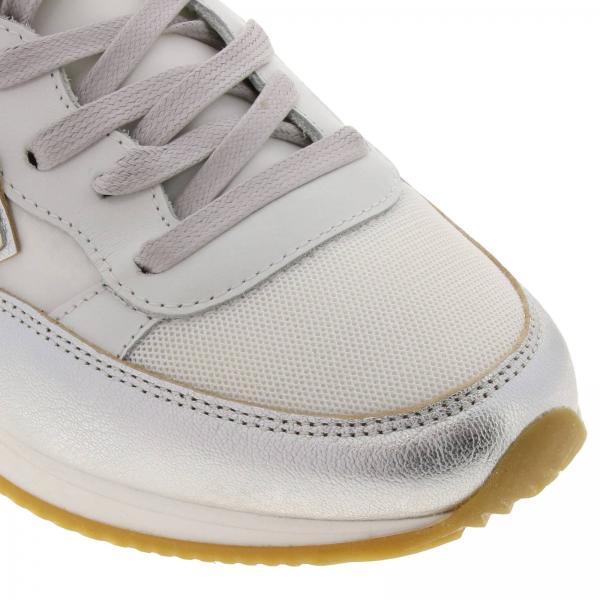 Suola Trld Con Stringata E Philippe Model Sneakers Donna Gomma Pelle Wm04 Micro Rete BiancoTropez Iridescente Nylon In 8k0PXnOw