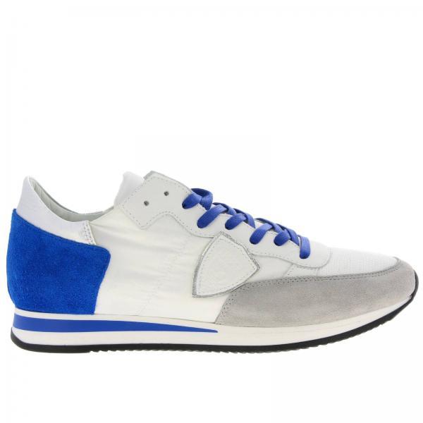Tropez Rete Contrasto Camoscio Philippe Sneakers A Stringata Nylon Model In Micro Con Dettagli E rsthQCxBd