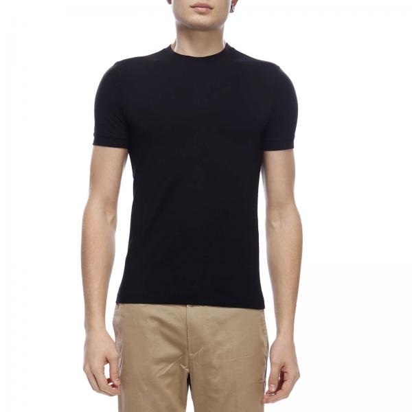 Giorgio Armani crew-neck t-shirt in basic stretch viscose jersey