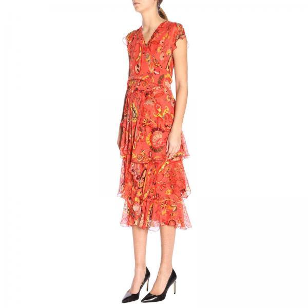 Mujer Coral 4320giglio 2019 Etro verano 14917 Primavera Vestido HqTdH