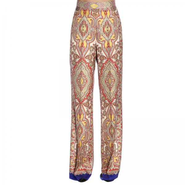 1dd9394eb6 Pantalone ampio in seta con fantasia paisley by etro