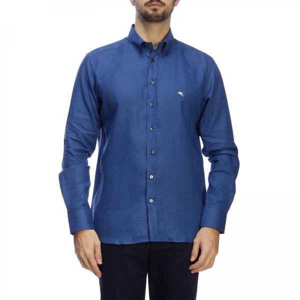 Camisa 2019 verano Etro 16365 6701giglio Hombre Primavera Blue 0frq0P