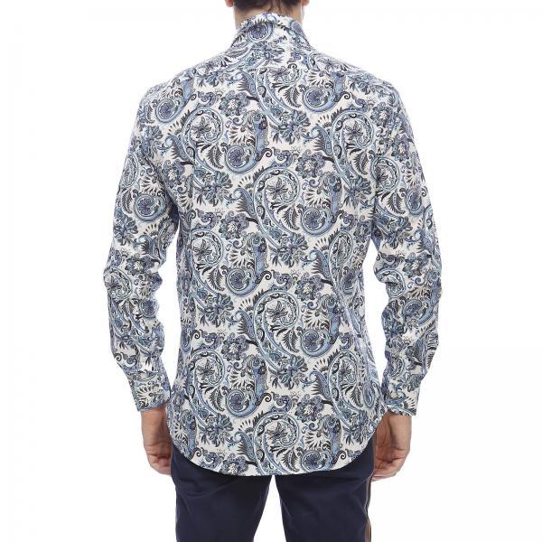 Camicia A Francese Fantasia Paisley Con In Collo Cotone OkwP8n0